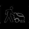 Gyalogkiséretű padlótisztítók